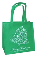 Christmas Eco Tote Bag Glitter: Merry Christmas Bell