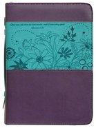 Bible Cover Divine Details: Large, Plum/Turquoise, Gen 1:31