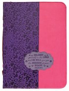 Bible Cover Divine Details: Large, Plum/Pink, Psalm 37:4