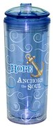 Flip Top Tumbler: Hope Anchors the Soul.. Blue (Heb 6:19) Homeware