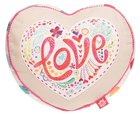 Affirmation Pillow: Love, Let Your Light Shine, Pink Soft Goods