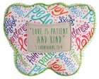 Affirmation Pillow: Kindness Butterfly, Green, Let Your Light Shine