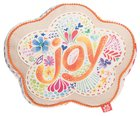 Affirmation Pillow: Joy Flower, Let Your Light Shine, Orange/Floral