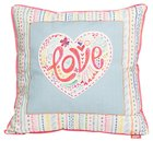 Affirmation Pillow: Love, Let Your Light Shine Soft Goods