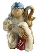 Porcelain Colour Glazed Holy Family Homeware