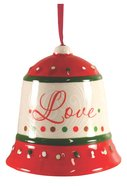 Dolomite Bell Tree Ornament: Love, Green & Red