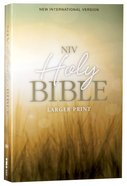 NIV Holy Bible Larger Print Nature (Black Letter Edition) Paperback
