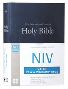 NIV Value Pew and Worship Bible Blue (Black Letter Edition) Hardback