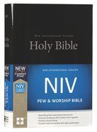 NIV Pew and Worship Bible Black (Black Letter Edition) Hardback