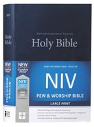 NIV Pew and Worship Bible Large Print Blue (Black Letter Edition) Hardback
