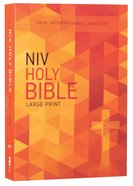 NIV Outreach Bible Large Print Orange Cross (Black Letter Edition) Paperback