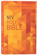 NIV Value Outreach Bible Orange Cross Geometric (Black Letter Edition) Paperback