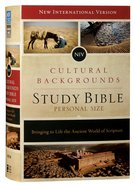 NIV Cultural Backgrounds Study Bible Personal Size Red Letter Edition Hardback