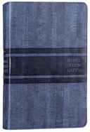 NIV Bible For Teen Guys Blue (Black Letter Edition) Premium Imitation Leather