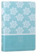 NIV Teen Study Bible Blue (Black Letter Edition) Premium Imitation Leather