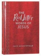 The Red Letter Words of Jesus (Burgundy Leathersoft) Hardback