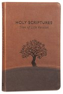 Tlv Thinline Bible Holy Scriptures Walnut/Brown Tree Design Duravella Imitation Leather