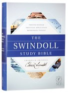 NLT the Swindoll Study Bible (Black Letter Edition) Hardback