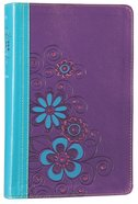 NLT Girls Life Application Study Bible Blue/Purple Flower (Black Letter Edition) Imitation Leather