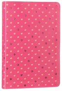 NLT Girls Life Application Study Bible Pink Glow in the Dark Dots (Black Letter Edition) Imitation Leather