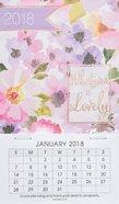 2018 Mini Magnetic Calendar: Whatever is Lovely (Floral)
