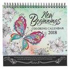 2018 Coloring Calendar: New Beginnings
