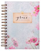Wirebound Journal: Amazing Grace, Blue/With Flowers Spiral