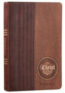 Prayer Journal: In Christ Alone, Two-Tone Browns, Luxleather