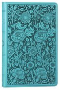 ESV Premium Gift Bible Teal Floral Design (Black Letter Edition) Imitation Leather