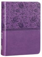 NKJV Large Print Compact Reference Bible Purple Leathertouch