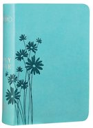 NKJV Large Print Compact Reference Bible Teal Leathertouch Premium Imitation Leather