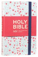 NIV Thinline Bible Floral Cloth Hardback