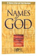 Names of God (Rose Guide Series)