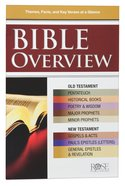 Bible Overview: Know Themes, Facts and Key Verses At a Glance (Rose Guide Series) Pamphlet
