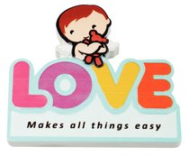 Fridge Magnet: My Angel and Me, Love Makes All Things Easy