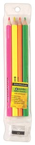 Dry Highlighter Pencil Set With Sharpener: Jumbo Size