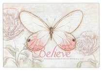 Medium Glass Cutting Board: Believe Butterfly Pink
