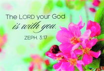 Magnet With a Message: The Lord Your God is With You (Zeph 3:17)