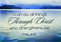 Magnet With a Message: I Can Do All Thing Through Christ Who Strengthens Me (Phil 4:13)