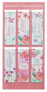Magnetic Bookmarks Set of 6: Sing For Joy (Floral)