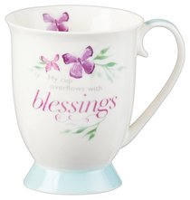 Ceramic Mug Sing For Joy: Blessings (Pale Green/floral/white)