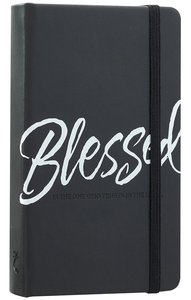 Notebook Journal: Blessed, Black/White
