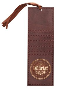 Bookmark Luxleather Tassel: In Christ Alone, Brown