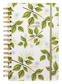 Prayer Journal: One Year Weekly Layout (Blue Floral/green Leaf)