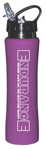 Rubberized Sports Thermos Bottle: Endurance (Purple)