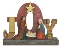 Resin Wood Look Holy Family Joy