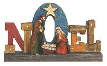 Resin Wood Look Holy Family Noel