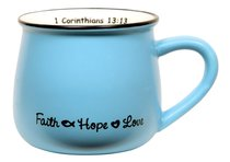 Mug: Faith, Hope & Love Blue