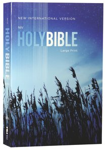 NIV Outreach Bible Large Print Blue Wheat