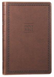 NIV Value Thinline Bible Large Print Brown (Black Letter Edition)